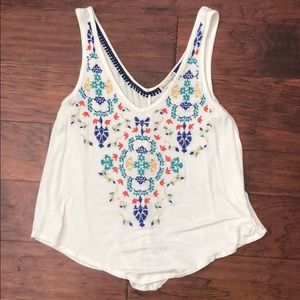 Love on a hanger embroidered tank top